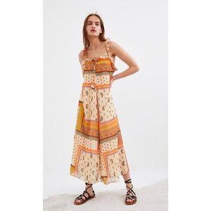ZARA Floral Maxi Print Dress NWT